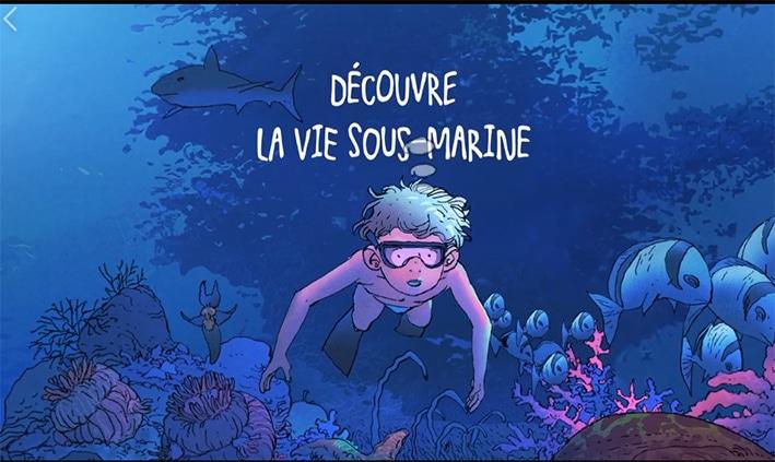 """Sortie du livre pour enfants """"Découvre la vie sous-marine avec Laurent Ballesta"""""""