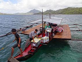 Arrivée en bateau