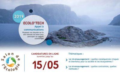 Ecolo'Tech 2019 : ouverture de l'appel à communications
